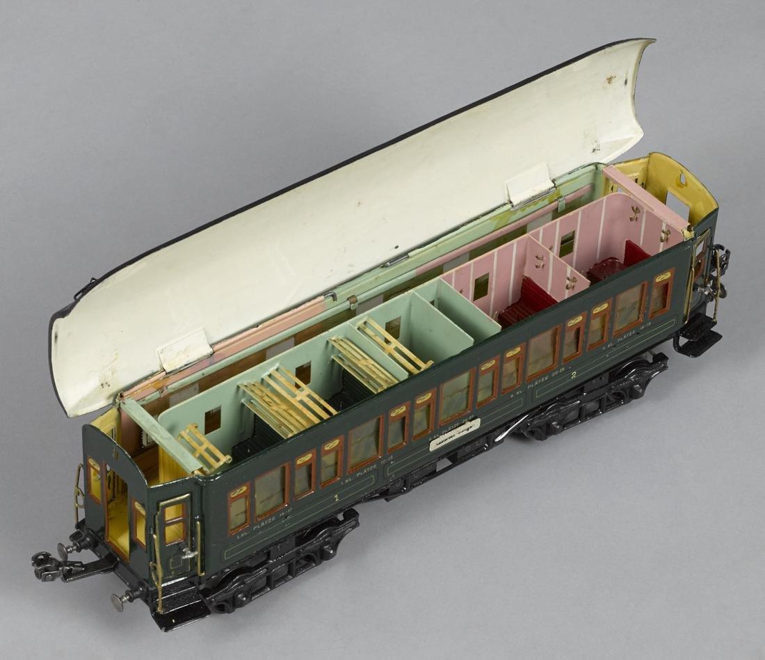 Marklin Gauge I smoking train coach, hand enameled, - 3