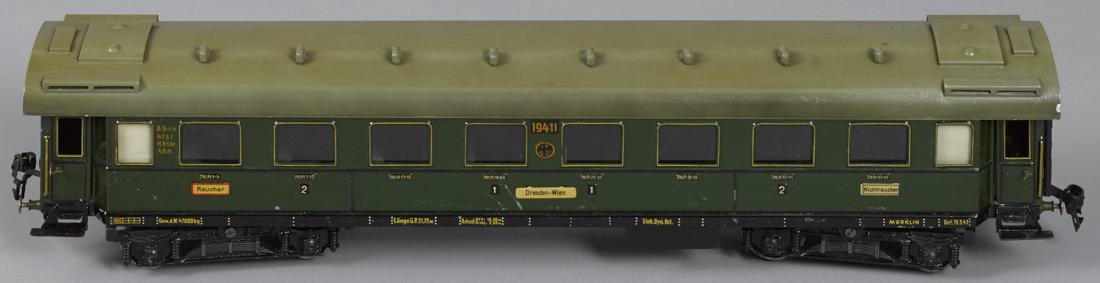 Marklin Gauge I smoking train car, 57 cm, no. 19411