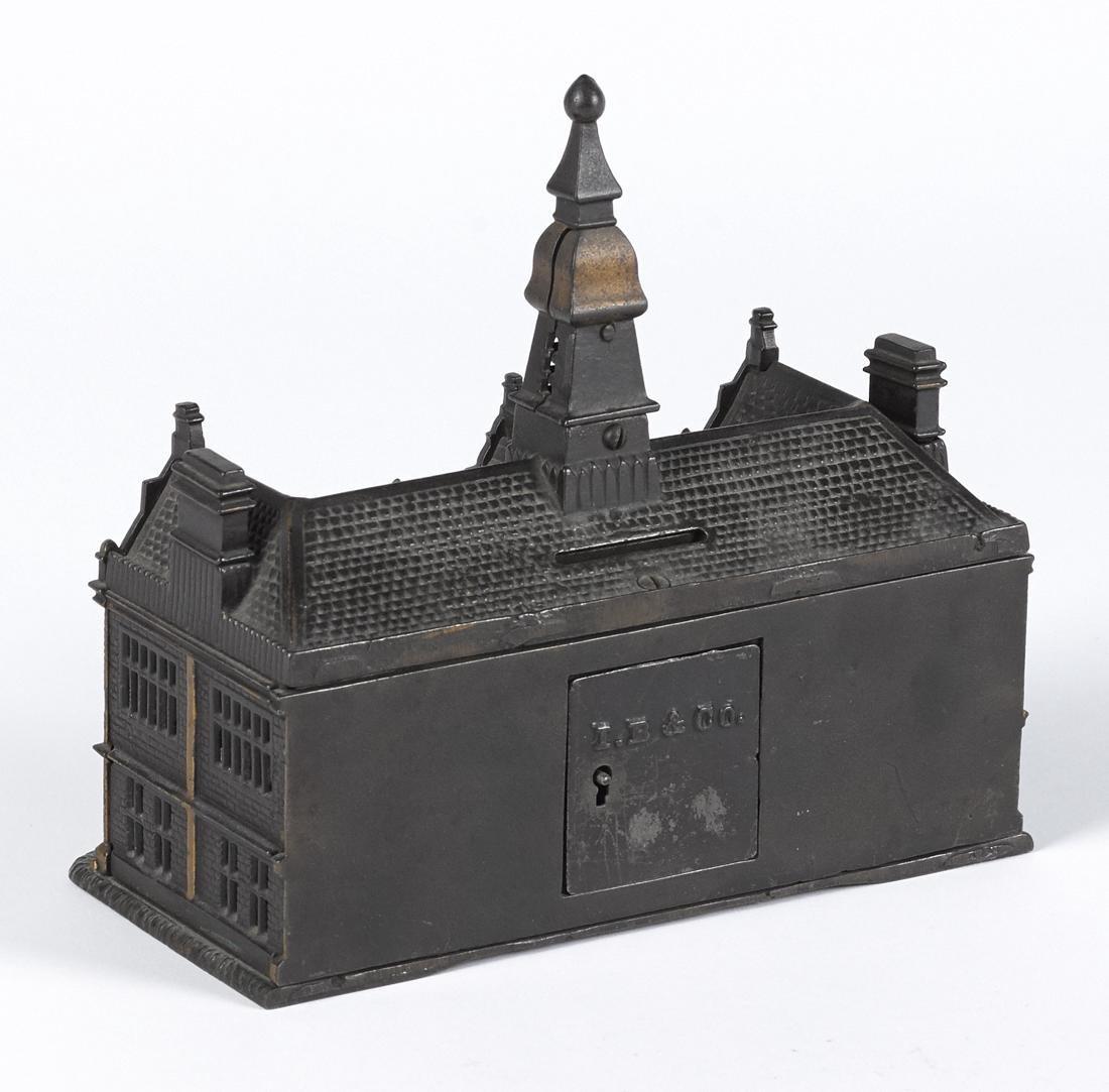 Ives cast iron palace still bank, 7 3/4'' h. - 2