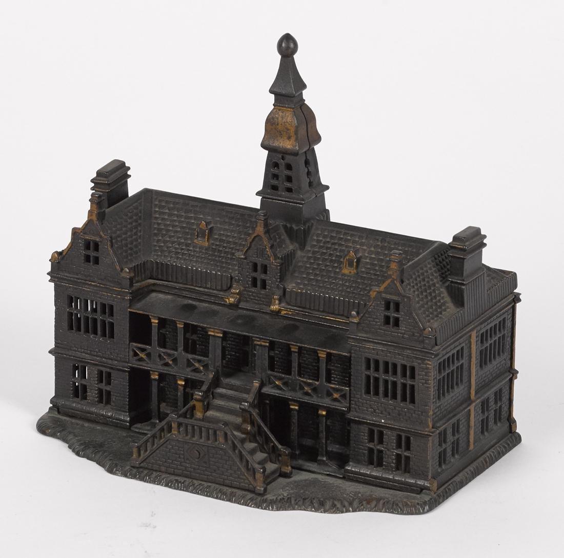 Ives cast iron palace still bank, 7 3/4'' h. - 3