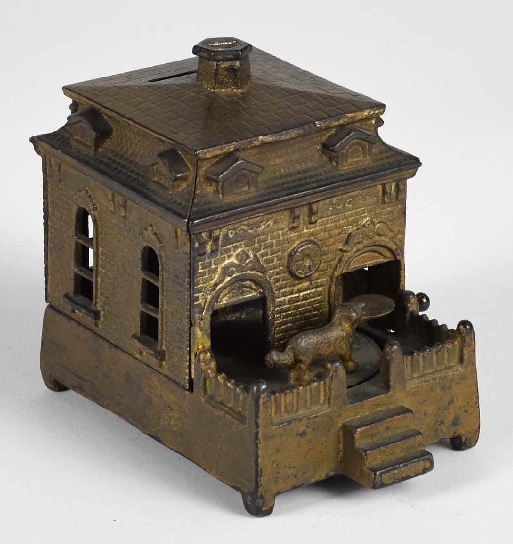 Judd Mfg. Co. cast iron Dog on Turn Table mechanical