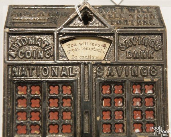 Cast iron Automatic Coin Savings mechanical bank. - 9