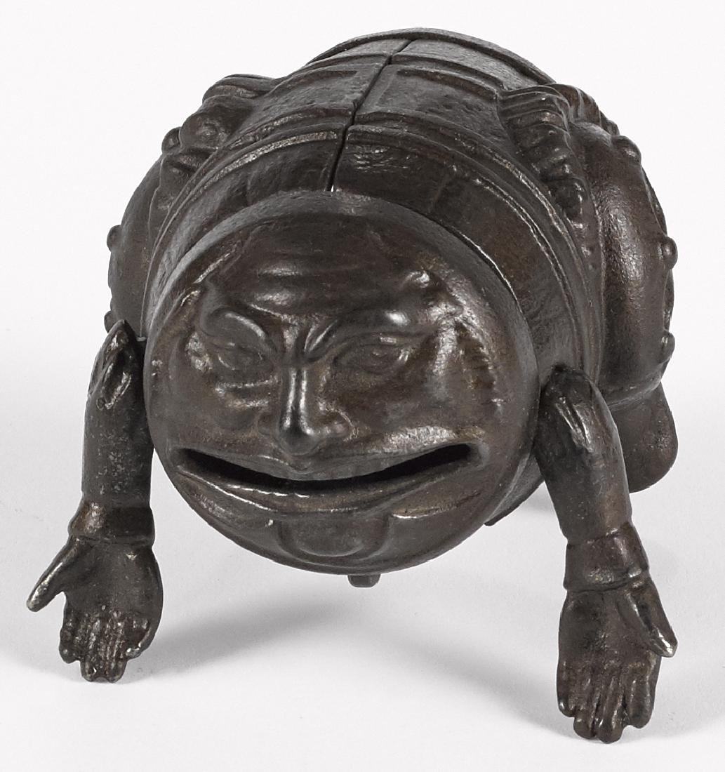 Cast iron man with arms still bank and pen rest, 3 - 2