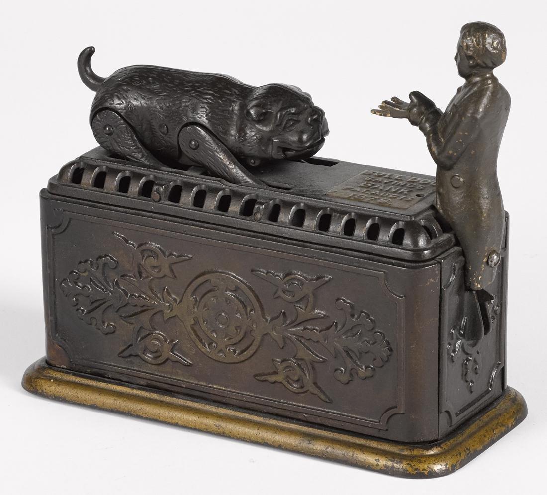 Ives, Blakeslee & Co. cast iron Bulldog Savings
