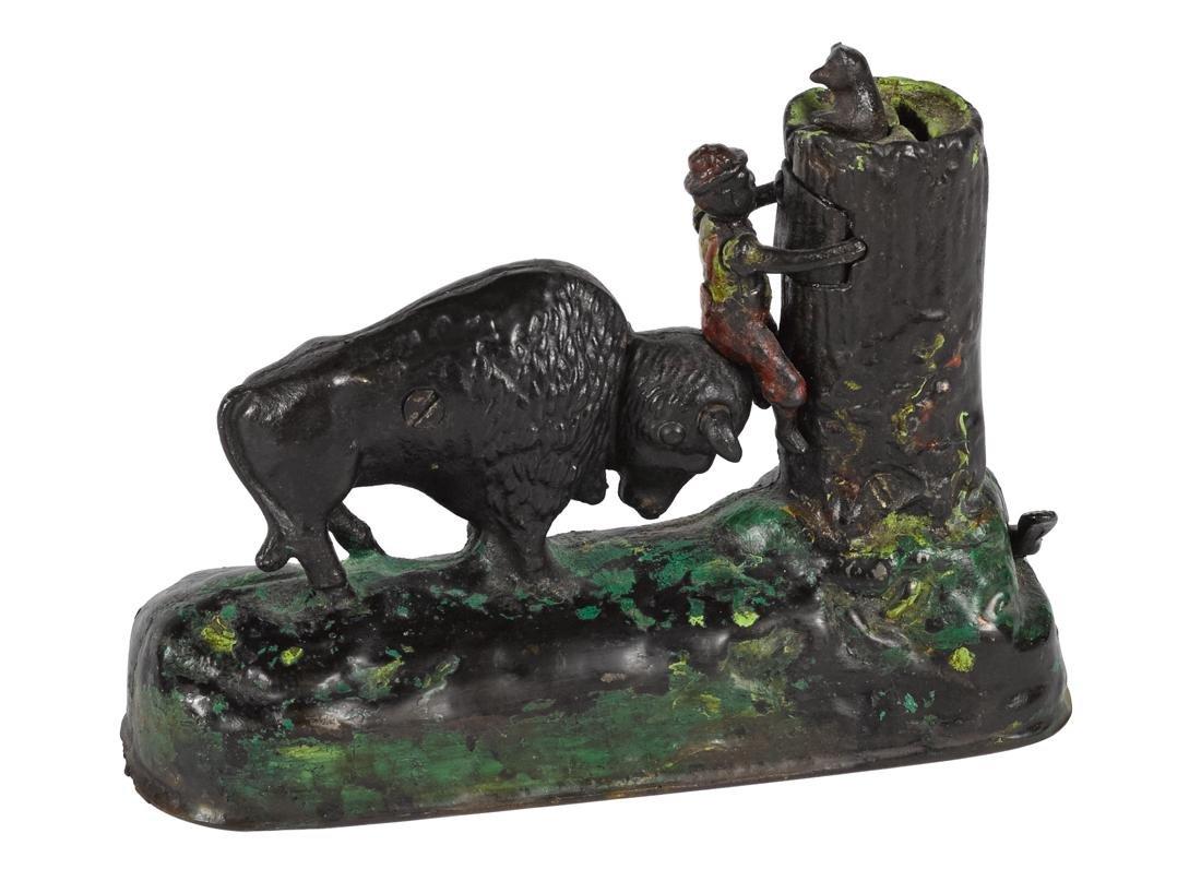 Kyser & Rex cast iron Butting Buffalo mechanical bank.