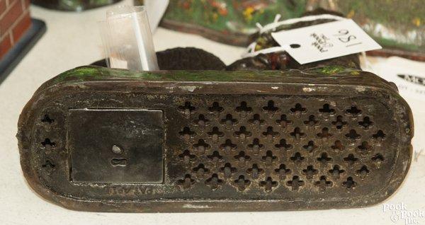 Kyser & Rex cast iron Butting Buffalo mechanical bank. - 2