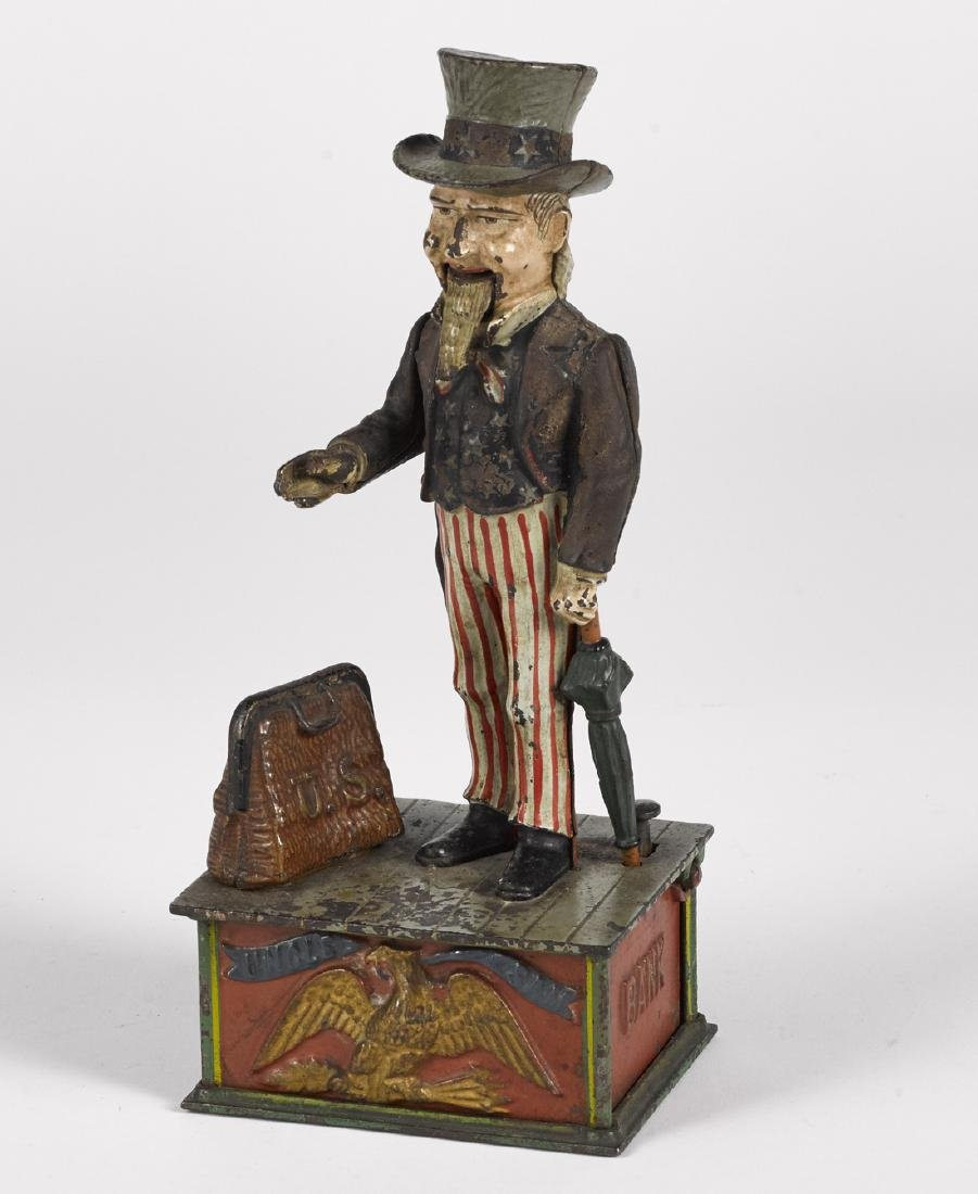 Shepard Hardware Co. cast iron Uncle Sam mechanical