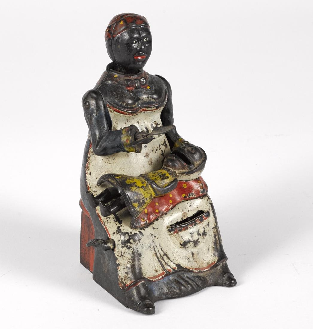 Kyser & Rex cast iron Mammy and Child mechanical bank.