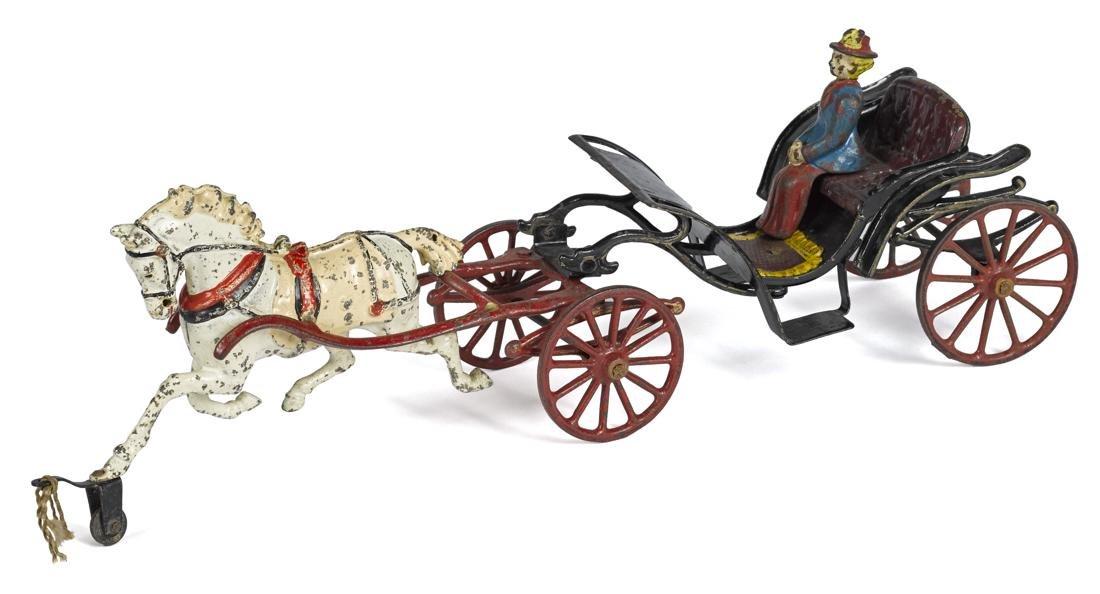 Pratt & Letchworth cast iron horse drawn open Phaeton