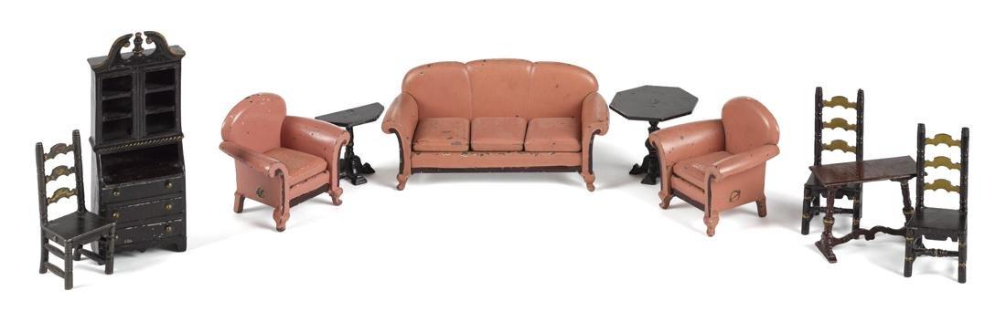 Arcade ten-piece cast iron living room furniture, to