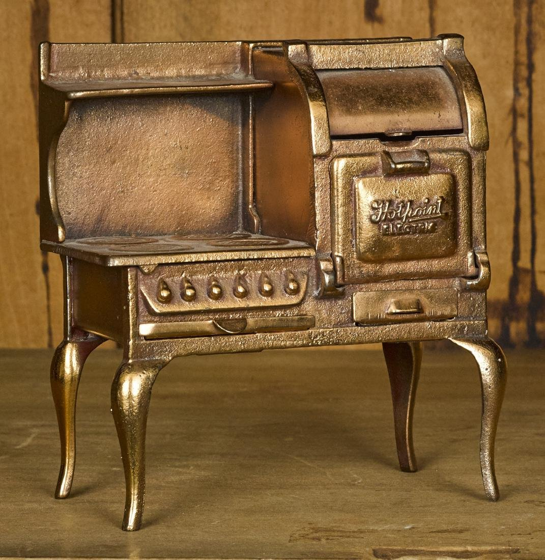 Unusual Arcade copper flashed Hotpoint stove, 6 1/4''