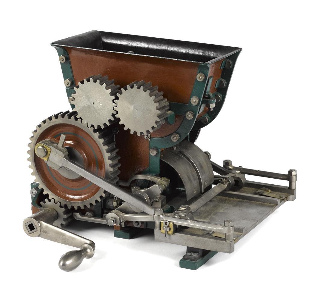 J. F. Schaffenecker cast iron brick machine patent
