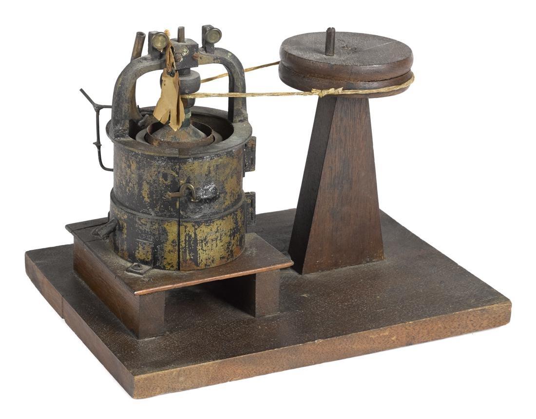 Patent model, hand crank wheel with cast iron tub, 9