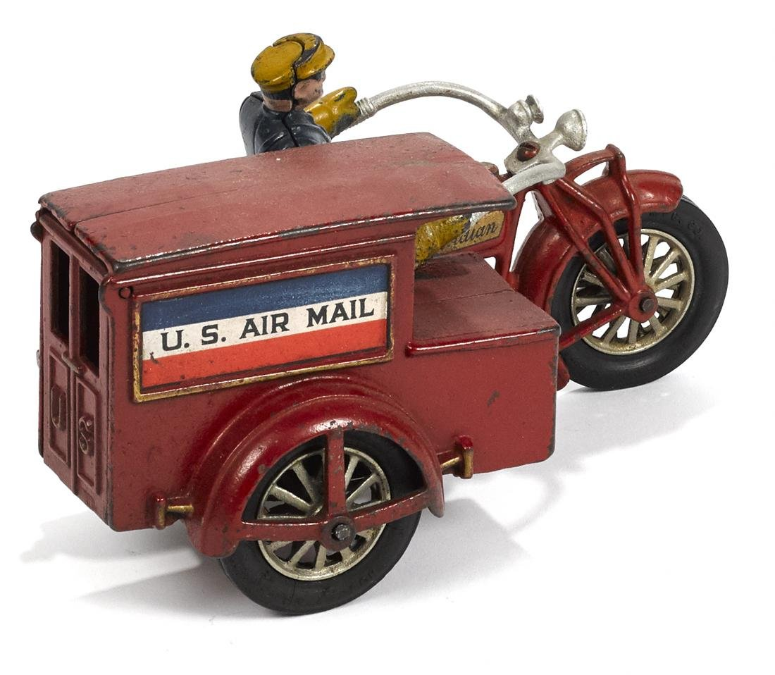 Hubley cast iron Indian U.S. Air Mail delivery - 2