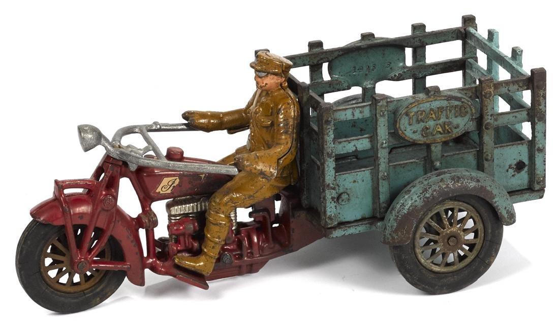 Hubley cast iron Indian Traffic Car three-wheel