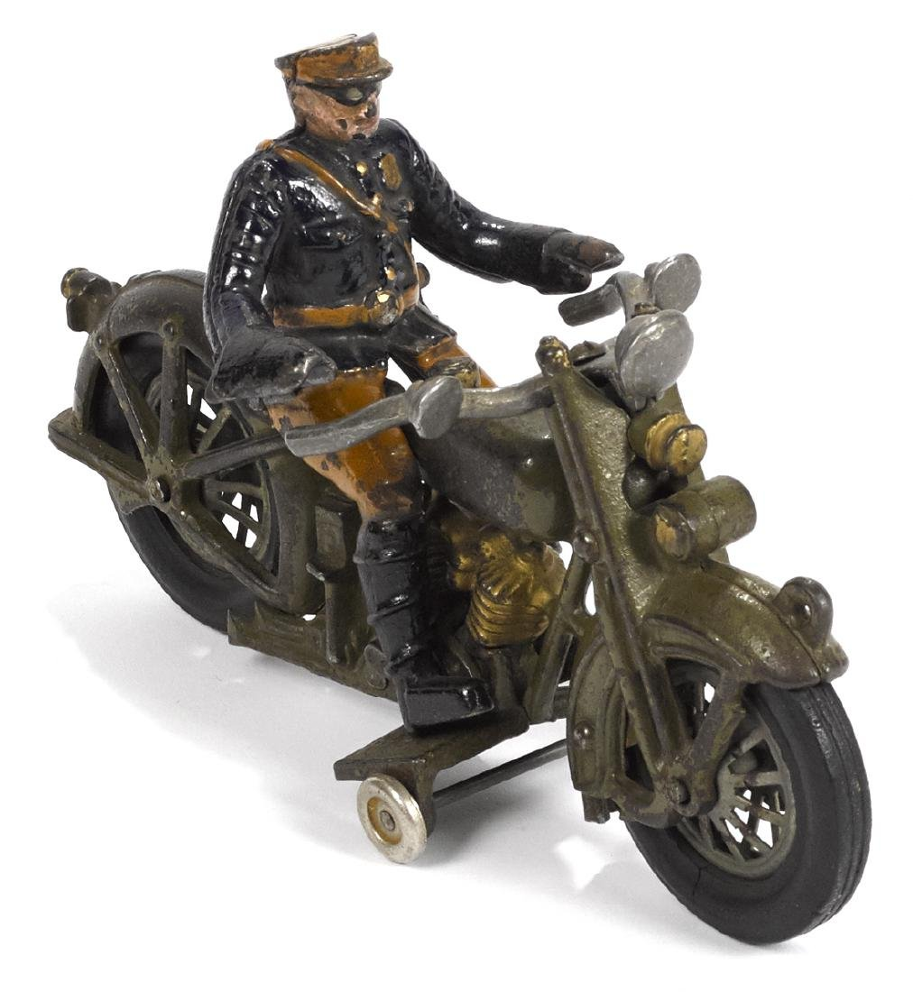 Hubley cast iron Harley Davidson police motorcycle, 9''