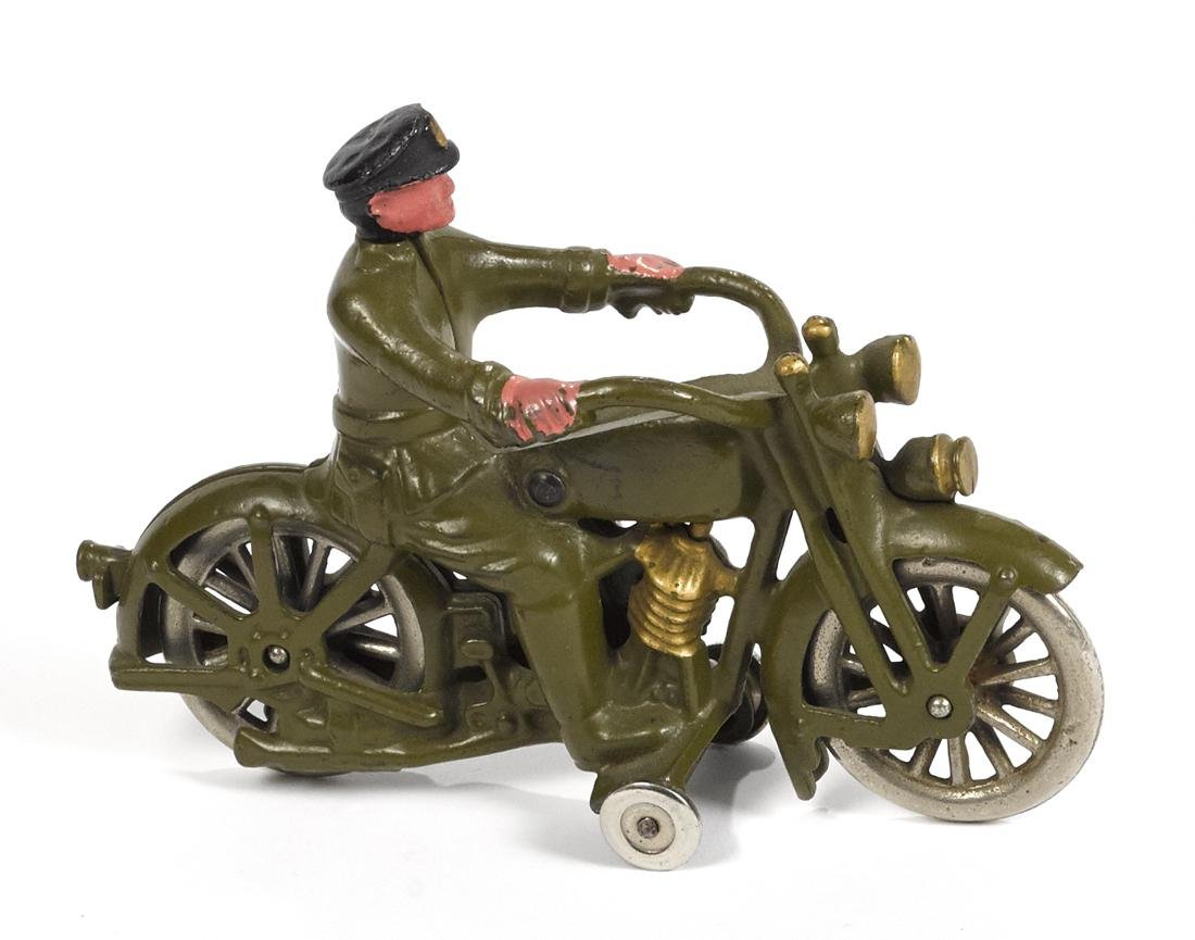 Hubley cast iron Harley Davidson police motorcycle, the