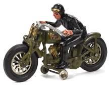 Hubley cast iron Harley Davidson hillclimber motorcycle