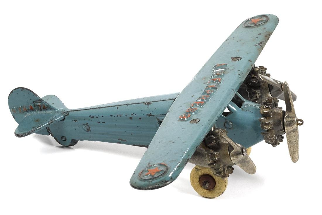 Dent cast iron Air Express tri-motor airplane, embossed