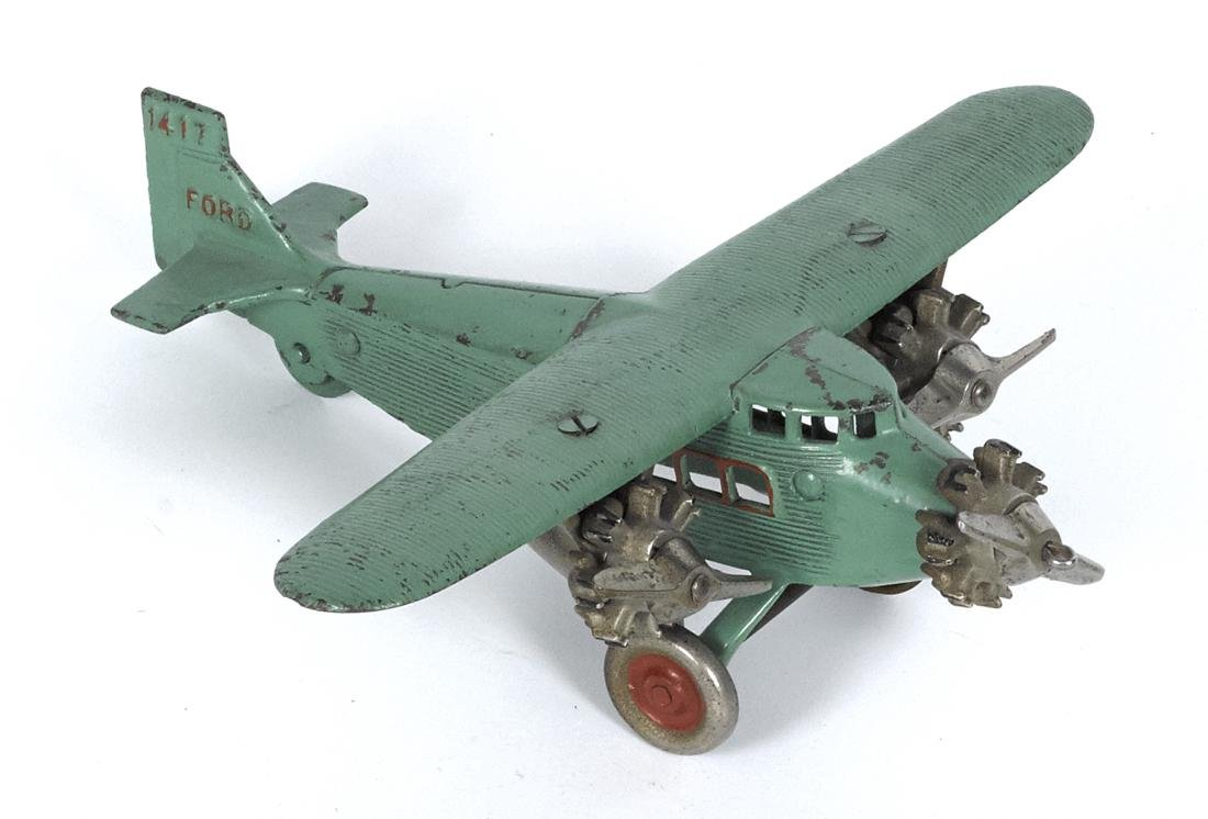 Dent cast iron Ford 1417 tri-motor airplane with