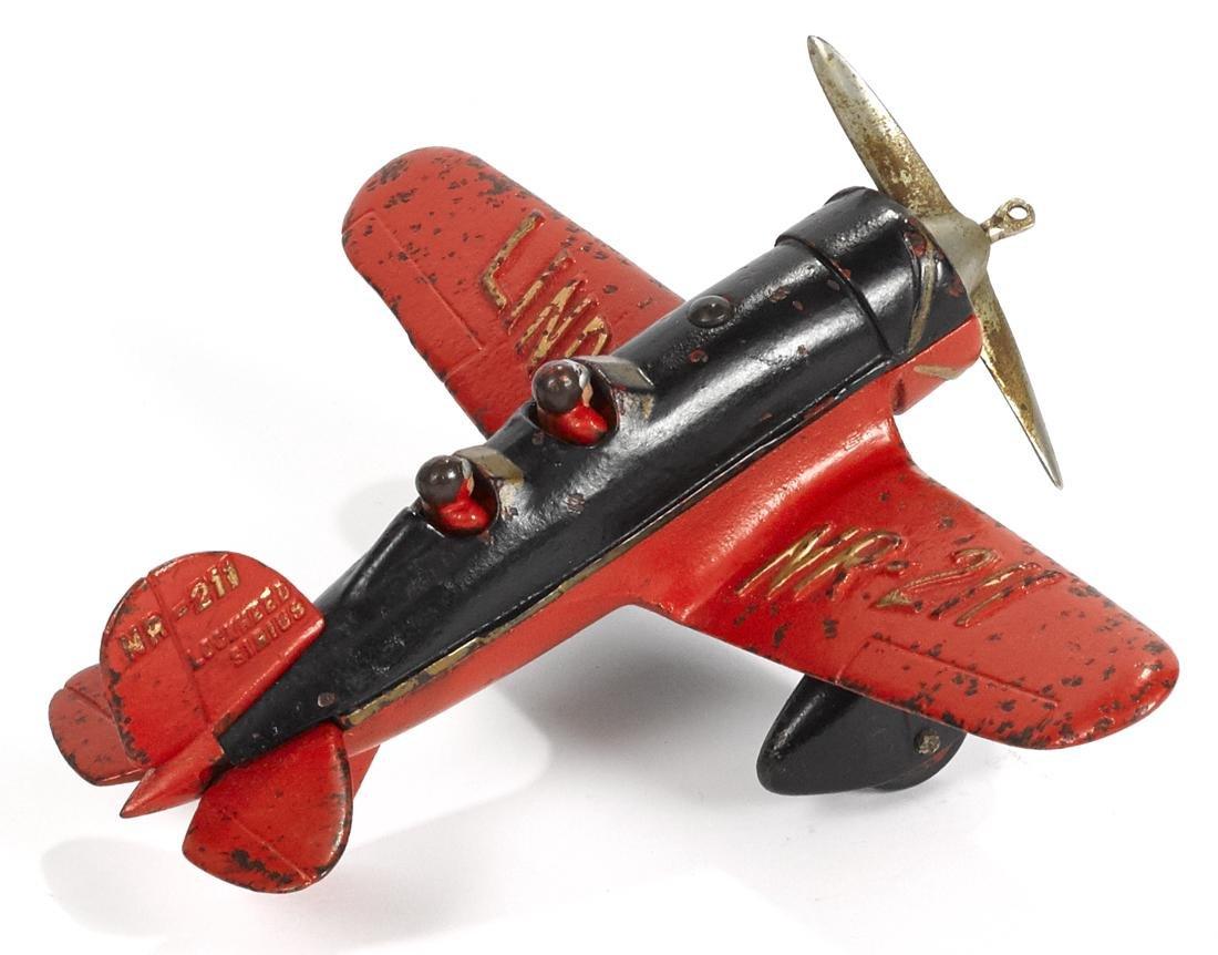 Hubley cast iron Lockheed Sirius Lindy NR-211 airplane