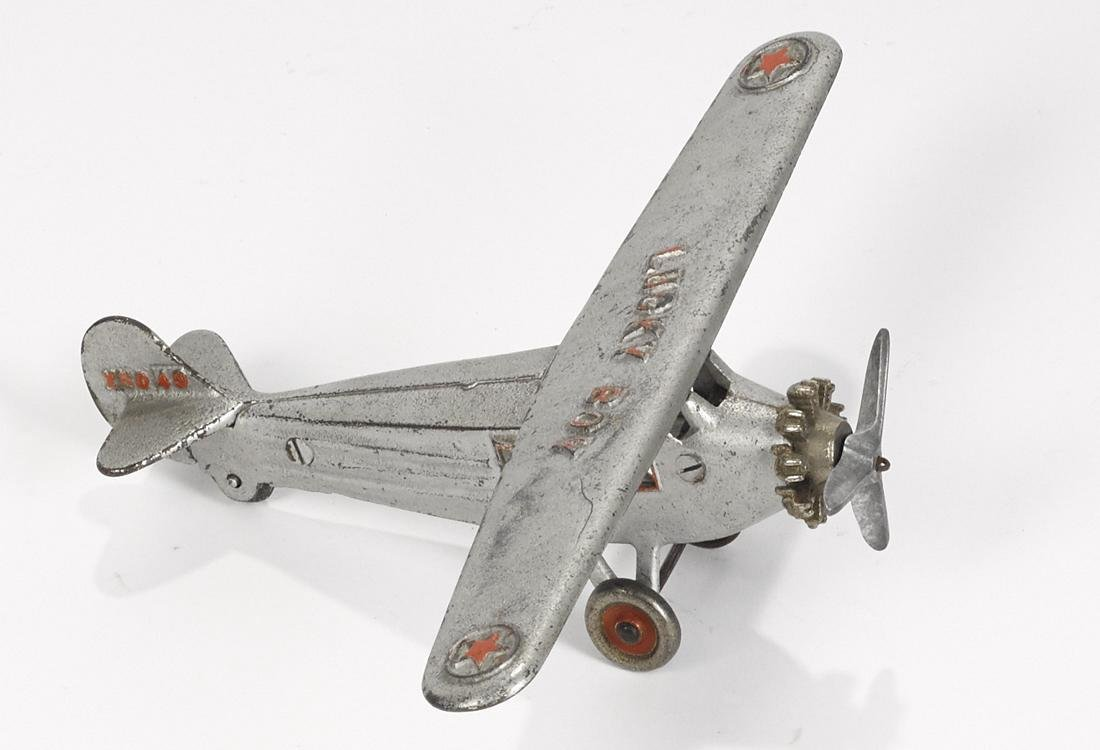 Dent cast iron Lucky Boy airplane, embossed X5043 on