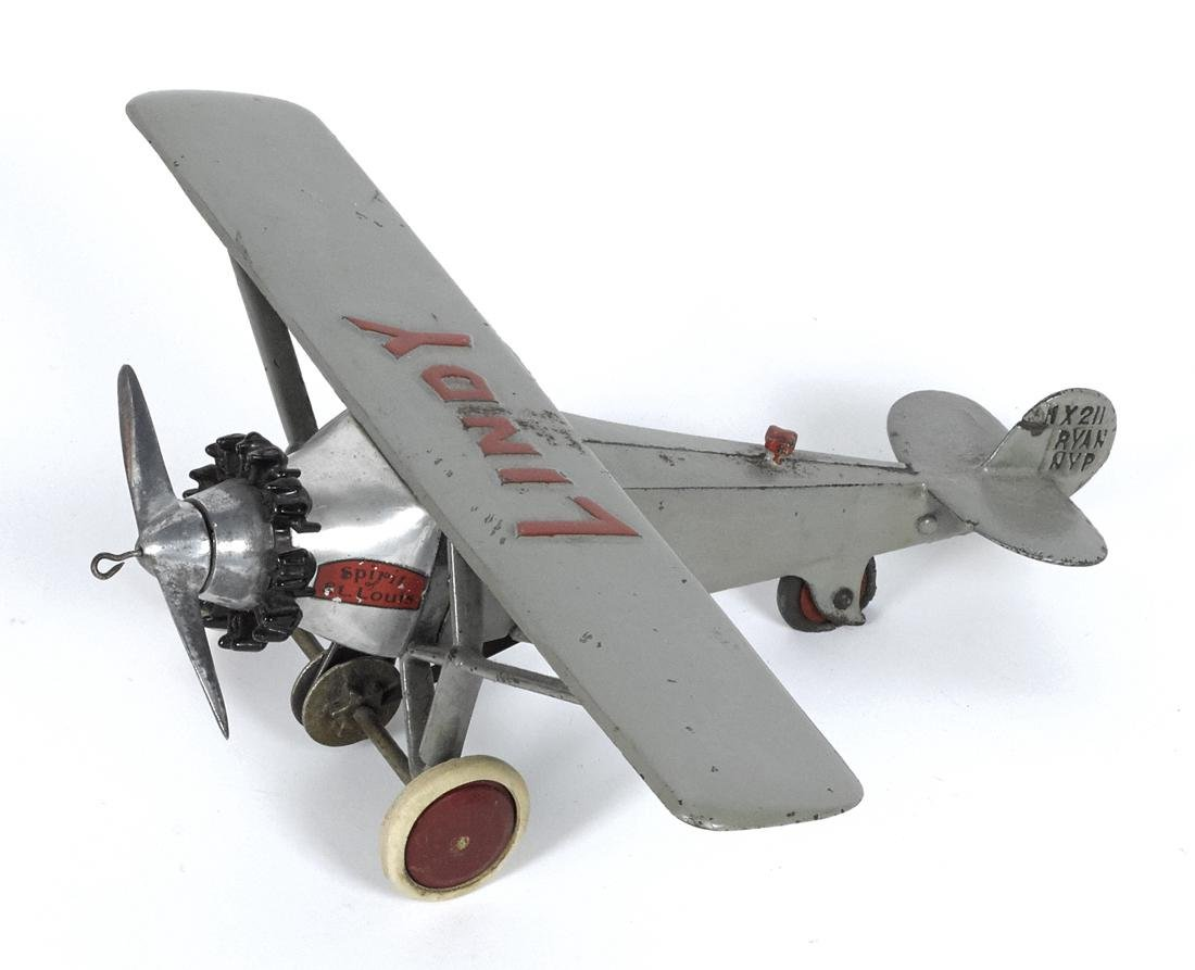 Hubley cast iron Lindy - Spirit of St. Louis airplane,