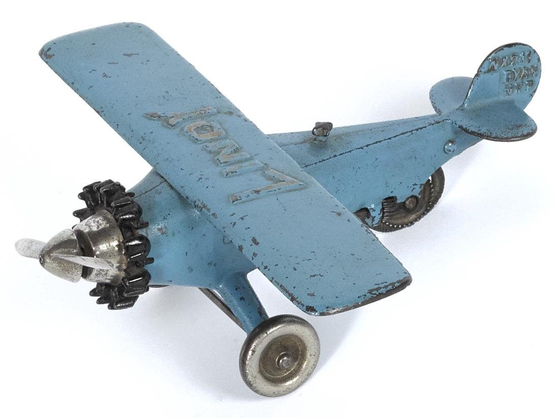 Hubley cast iron Lindy airplane, embossed NX211 Ryan