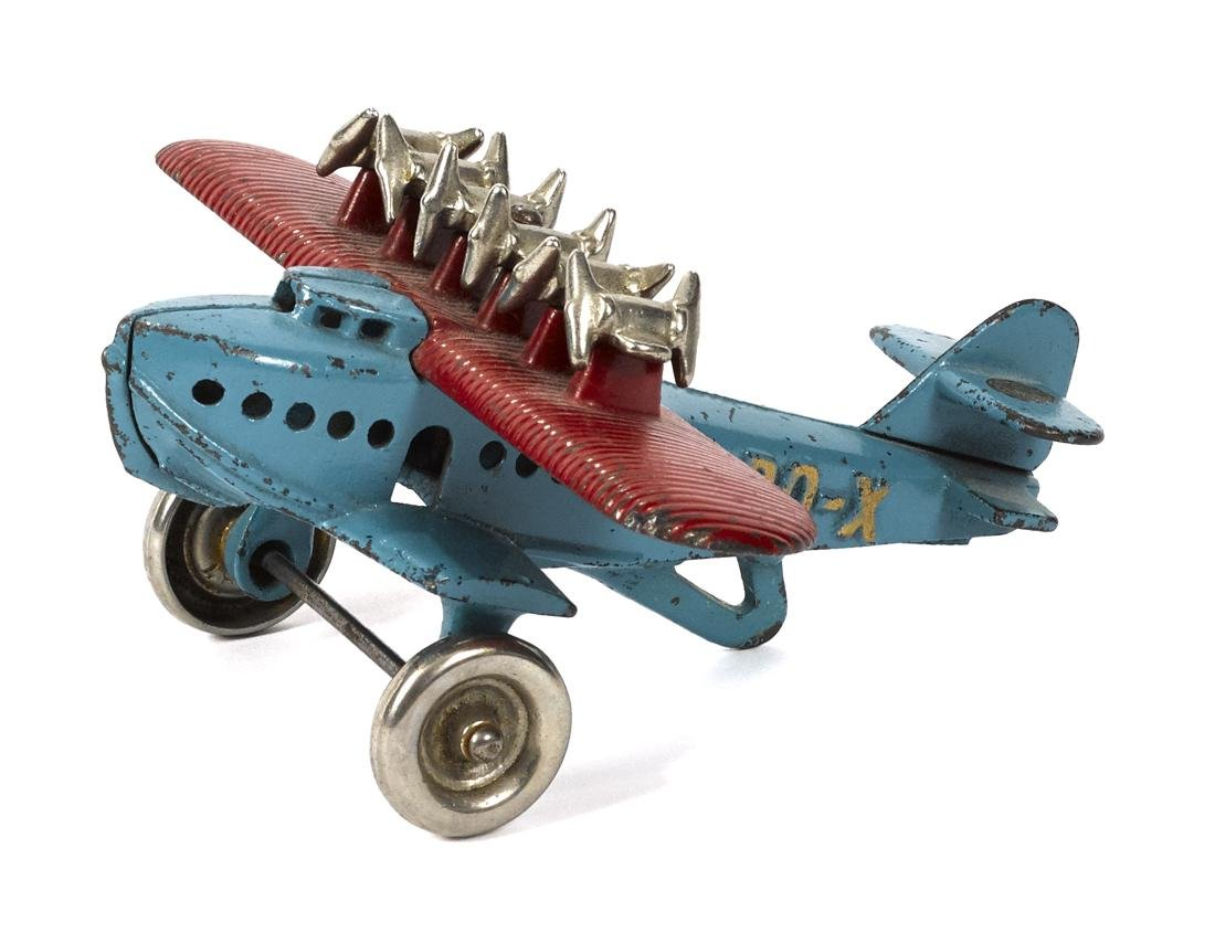 Rare Hubley cast iron DO-X seaplane with nickel-plated