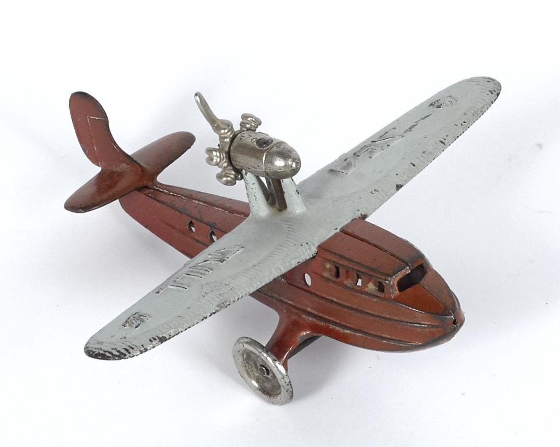 Kilgore cast iron Sea Gull airplane with a
