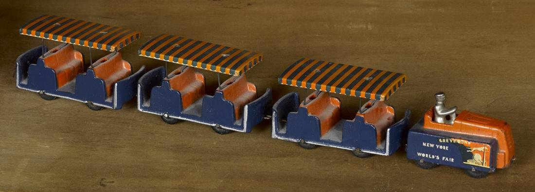 Arcade cast iron New York World's Fair Greyhound Train,