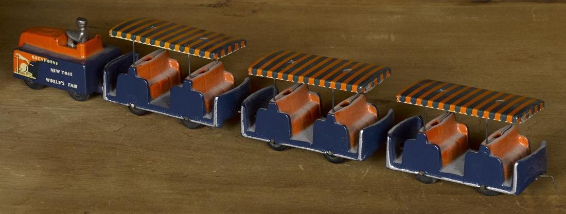 Arcade cast iron New York World's Fair Greyhound Train, - 2