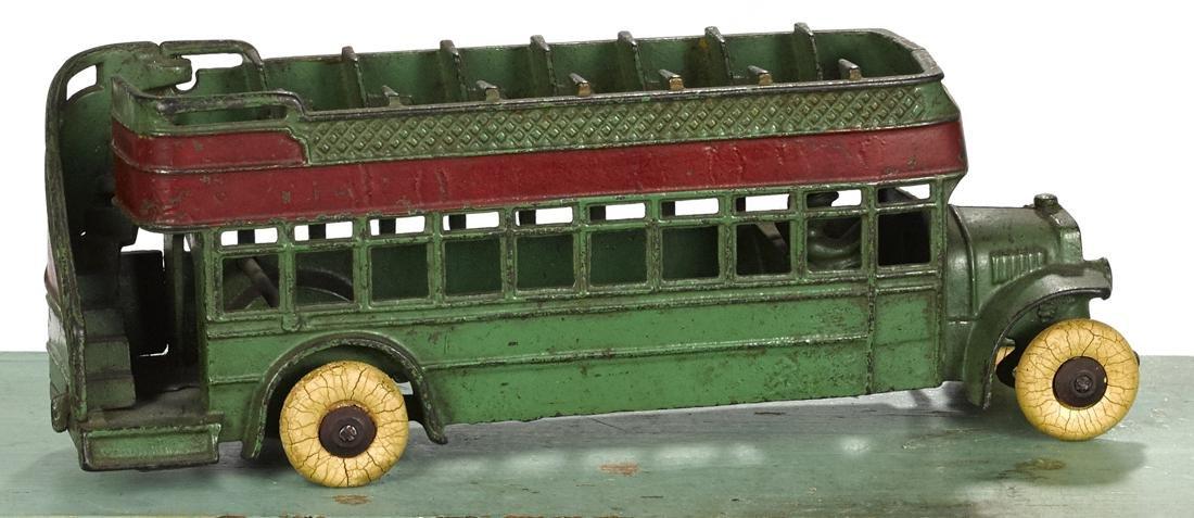 Kenton cast iron double decker city bus, 11 1/2'' l.
