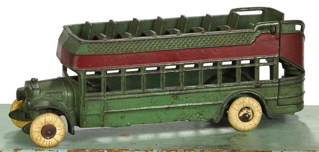 Kenton cast iron double decker city bus, 11 1/2'' l. - 2