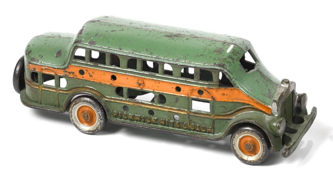 Kenton cast iron Pickwick Nite Coach bus with a driver,