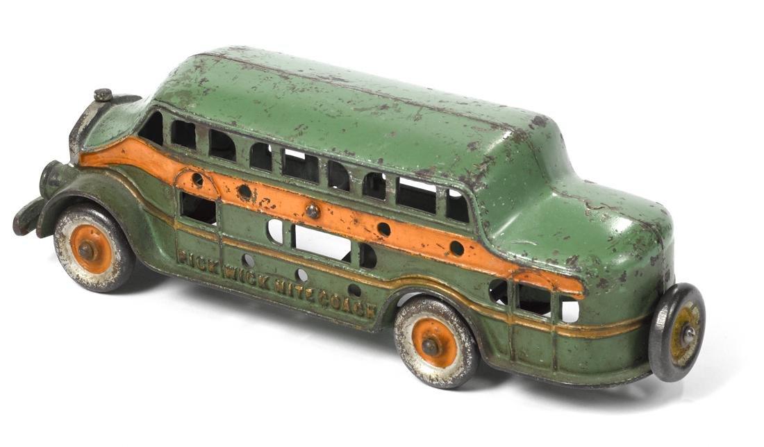 Kenton cast iron Pickwick Nite Coach bus with a driver, - 2