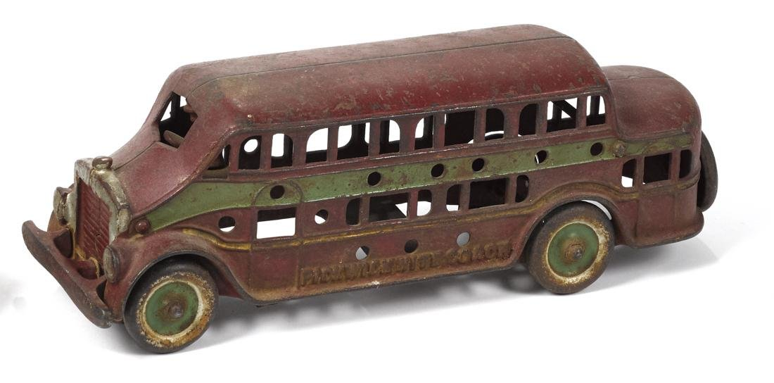 Kenton cast iron Pickwick Nite Coach bus with a driver,