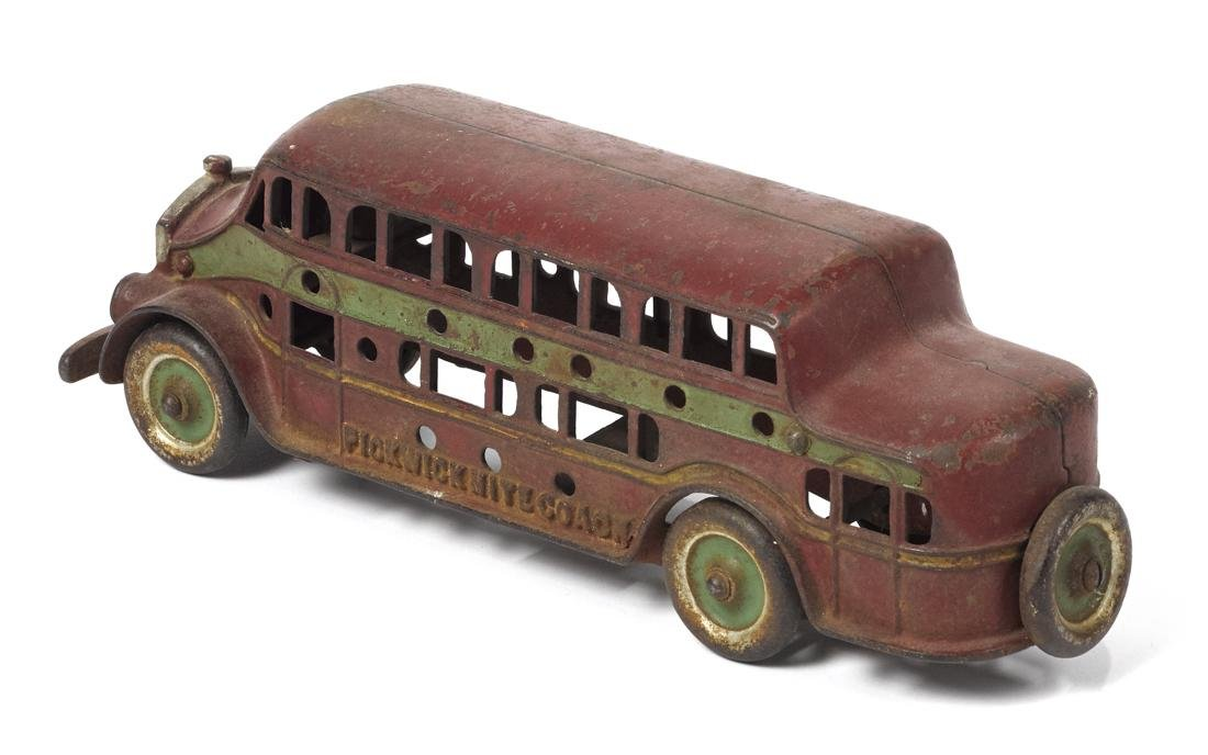 Kenton cast iron Pickwick Nite Coach bus with a driver, - 2