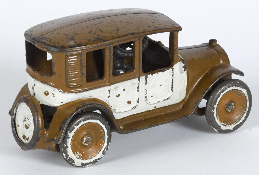 Arcade cast iron brown and white cab with copper - 2