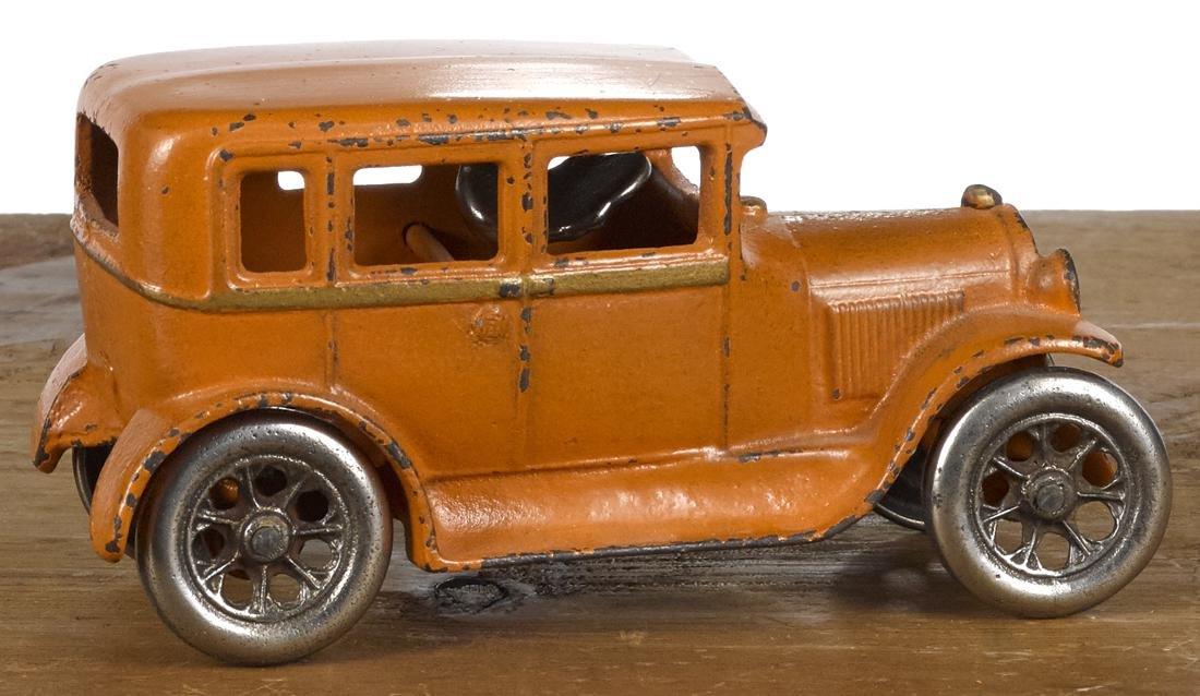 Arcade cast iron four-door sedan with a nickel-plated - 2