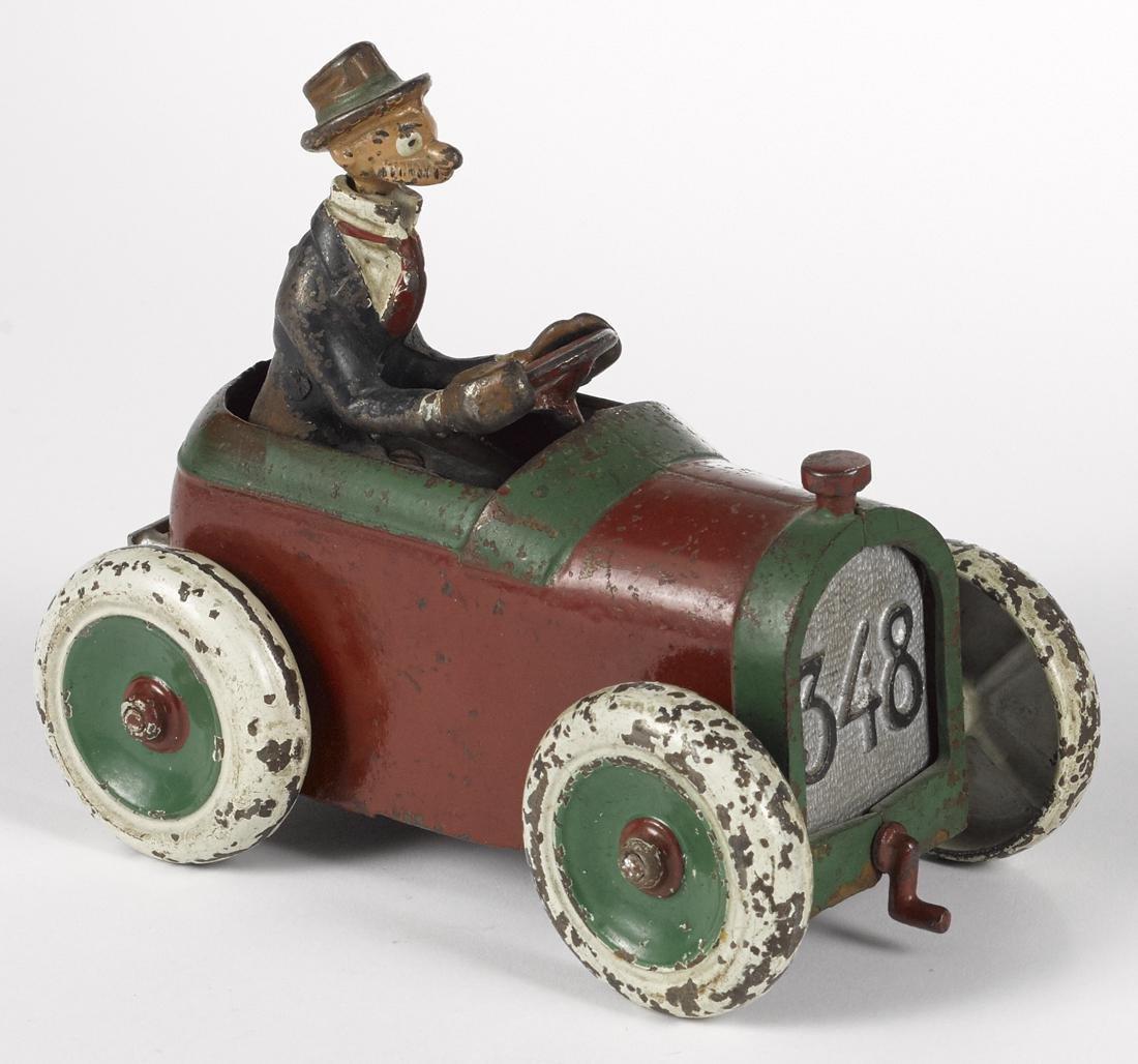 Arcade cast iron Andy Gump 348 car, deluxe version,