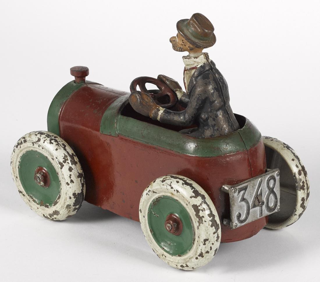 Arcade cast iron Andy Gump 348 car, deluxe version, - 2