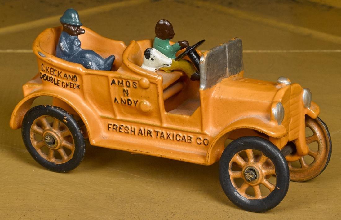 Dent cast iron Amos n Andy Fresh Air Taxicab Co. with a