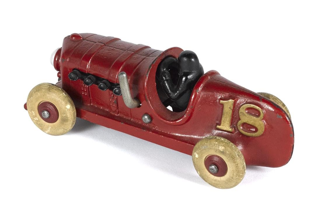Hubley prototype cast iron boat tail no. 18 racer with - 2