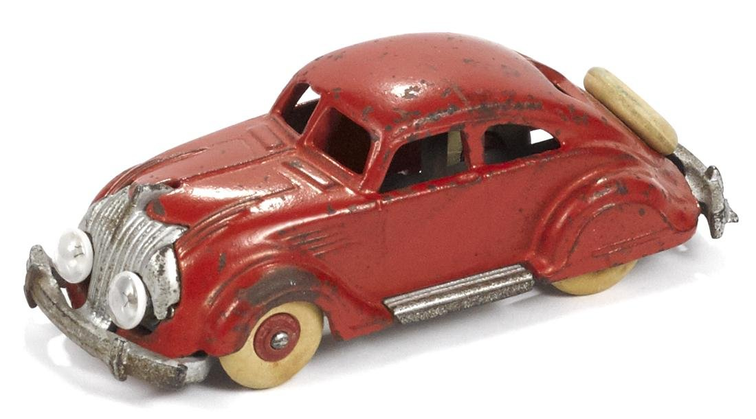 Hubley cast iron Chrysler Airflow with battery-powered