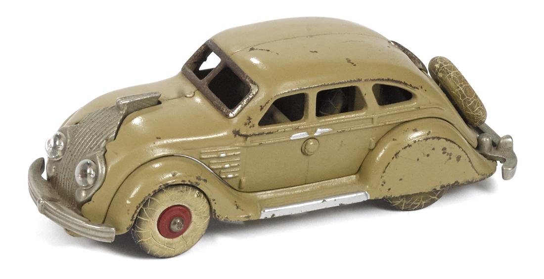 Hubley cast iron Chrysler Airflow sedan with