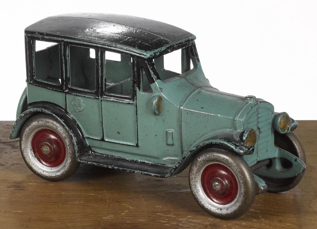 Kenton cast iron sedan with an integral spare, 6 1/4''
