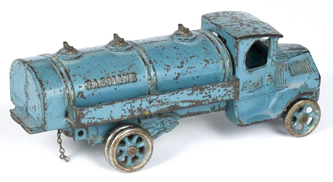 Arcade cast iron Mack Gasoline truck with a - 2