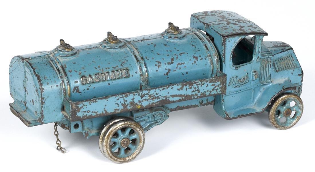 Arcade cast iron Mack Gasoline truck with a - 2