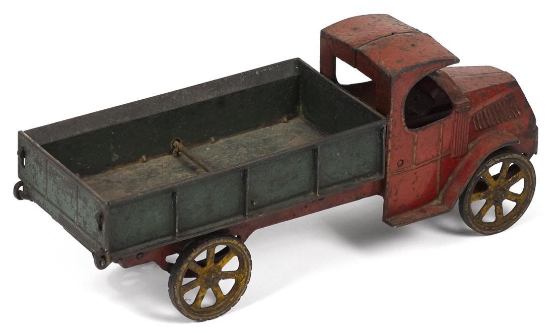 Dent cast iron dump truck, 15'' l. - 2